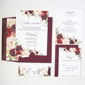 Marsala Wedding Invitation Card