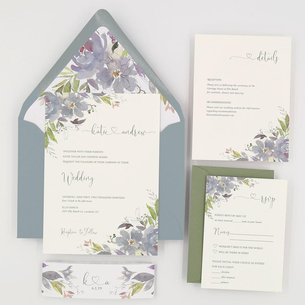 5 piece blue wedding