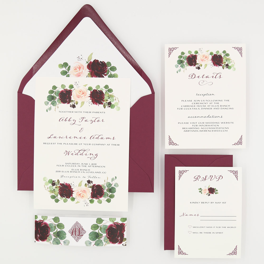 marsala wedding suite